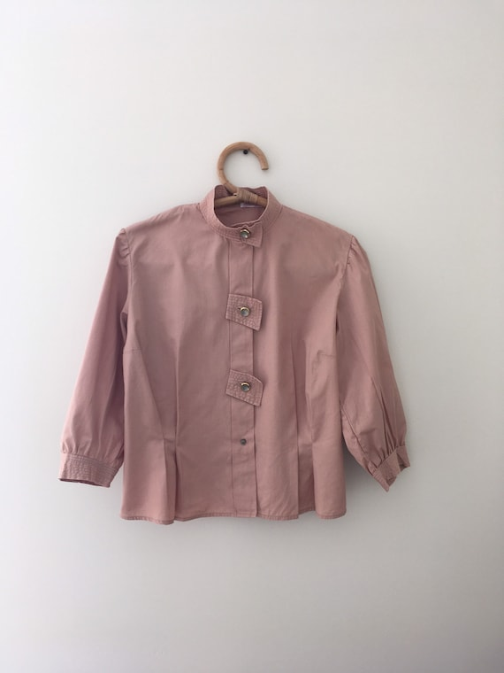 Vintage Paris 40s incredible new blouse in pink co