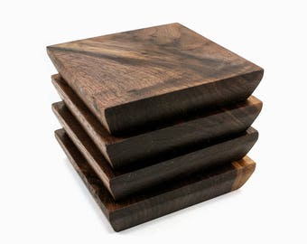 Walnut Wooden Drink Coaster (Set of 4)