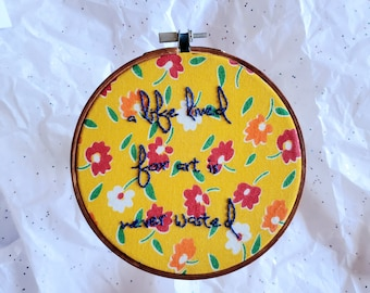live by your own rules Food is anarchy dude Star Butterfly The Forces of Evil Hand embroidered hoop Star Vs