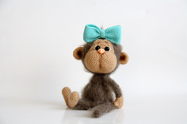 Monkey Monkey Plush Monkey Toy Monkey Amigurumi Crochet Etsy
