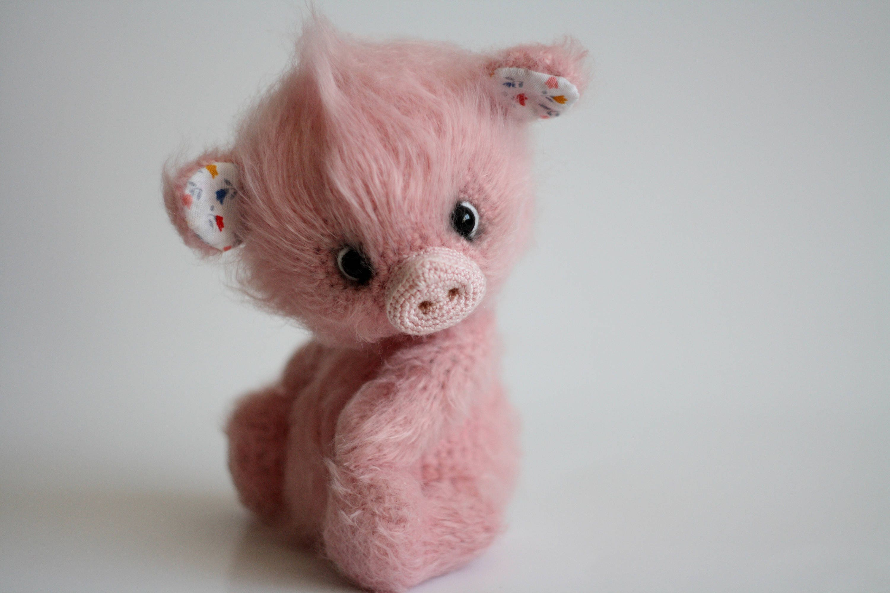 Pig Toy Amigurumi Pig Plush Pig Crochet Pig Stuffed Animal Pig Etsy