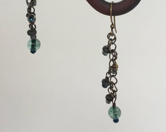 Multi Bead Dangle Earrings