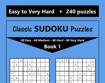Sudoku Printables Etsy