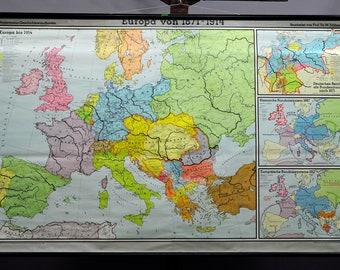 Karte Von Europa 1914.1914 Europe Map Etsy