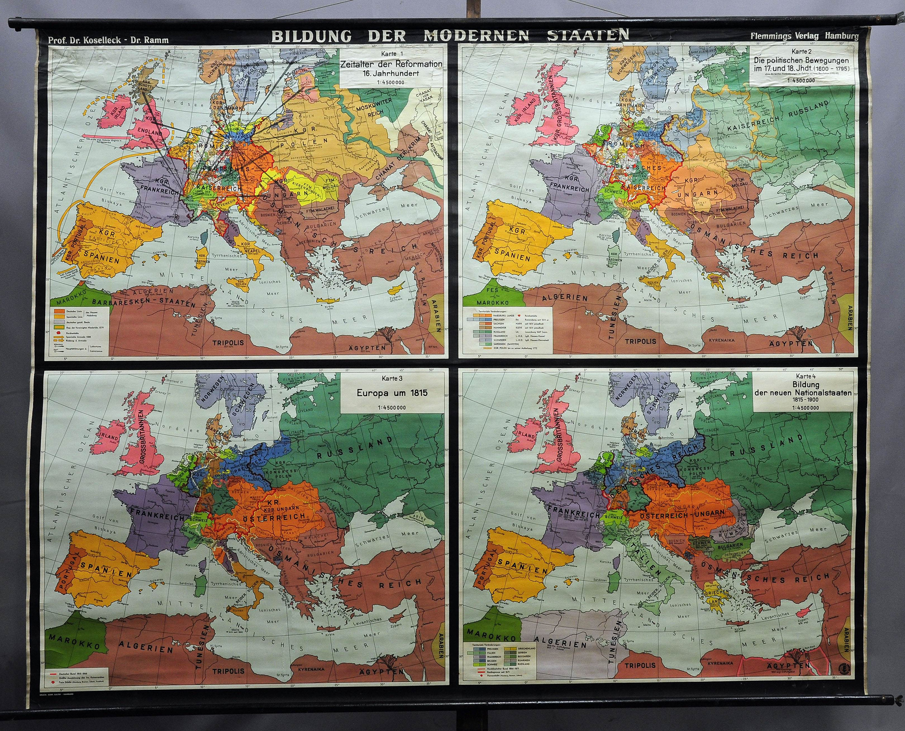 Historical Wall Chartvintage Poster Map Creation Of Modern Etsy