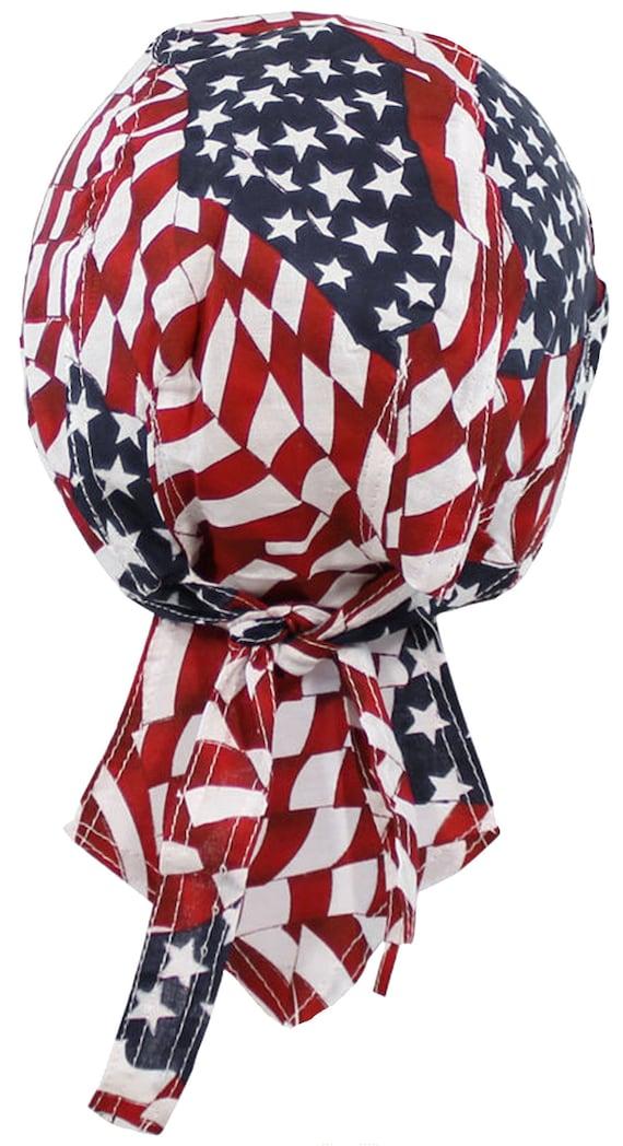 New I Love America Red White Blue Stars /& Stripes Patriotic Scarf Bandanna Durag
