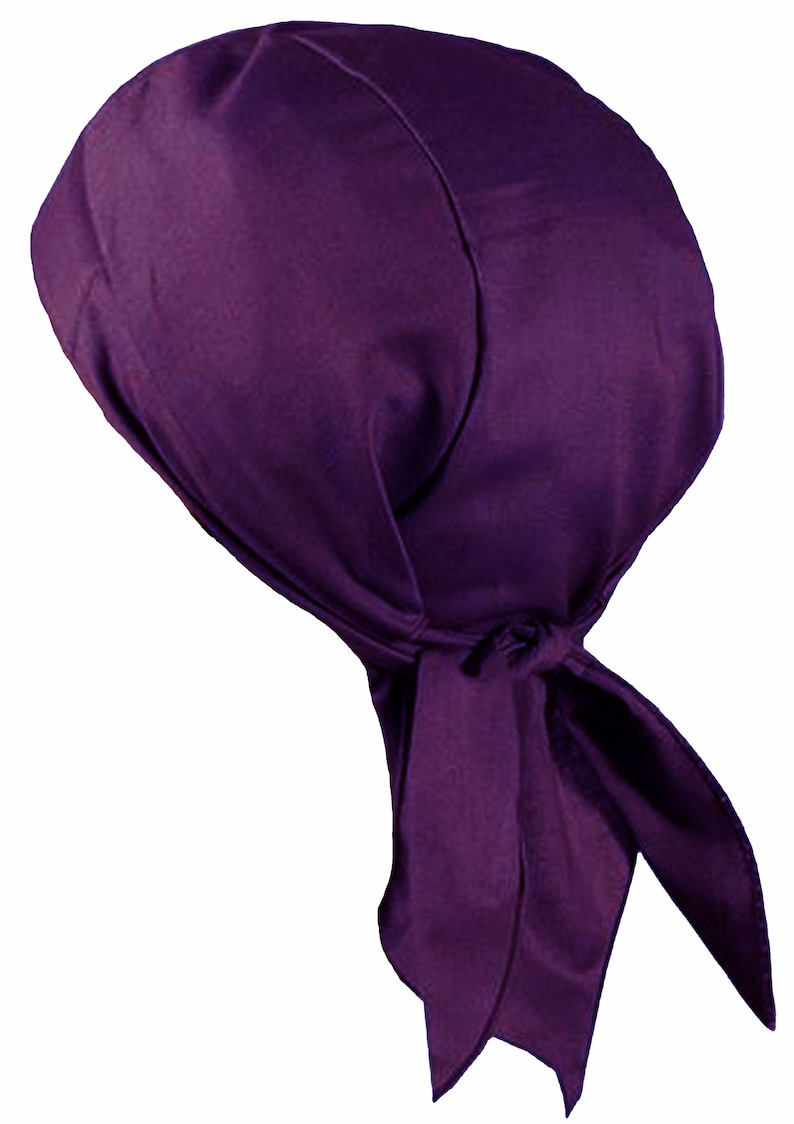 d1ba4669da0 PURPLE Doo-Rag with SWEATBAND Du-Bandana Motorcycle Skull Cap