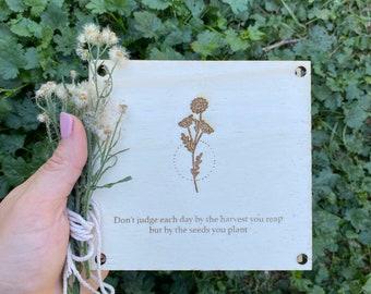 Flower Press - Harvest • customizable handmade flower press kit, pressed flower craft kit, Wooden flowerpress
