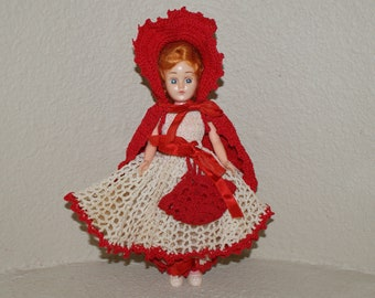 Vintage 60s Little Red Riding Hood Doll