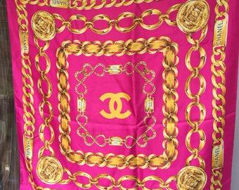 Rare Vintage Gorgeous silk scarf by Chanel Paris 31 Rue Cambon Paris