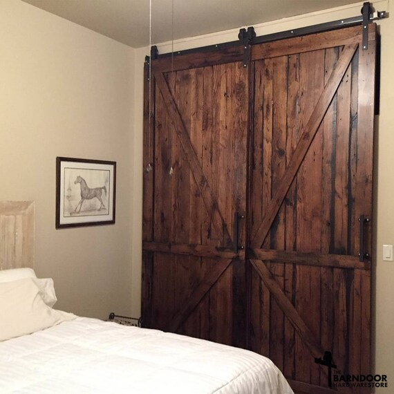 Single Track Bypass Barn Door Kit Raw Or Finishes Available Etsy