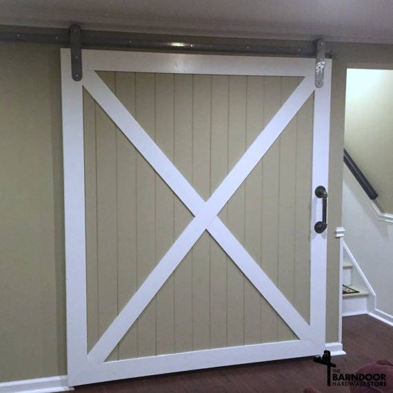 Sliding Barn Door Hardware Kit With Low Clearance Hangers