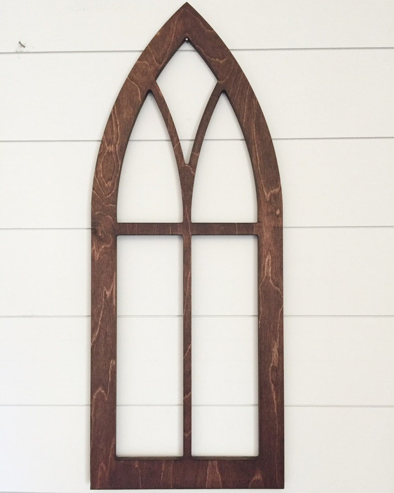 Cathedral Window Frame In Wood Farmhouse Decor Wall Decor