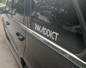 Ink Addict car decal