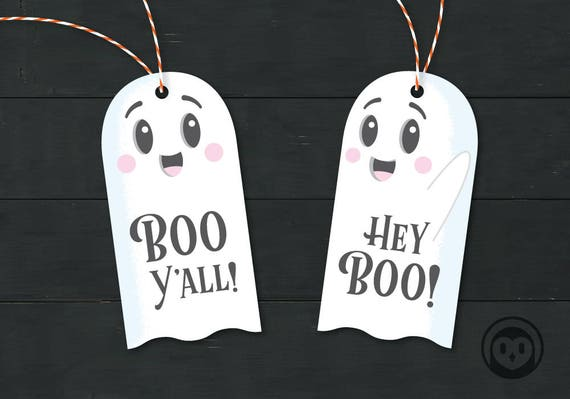 image regarding Boo Printable referred to as Boo Yall and Hey Boo Ghost Printable Tag Halloween Reward Tag Want Instantaneous Obtain