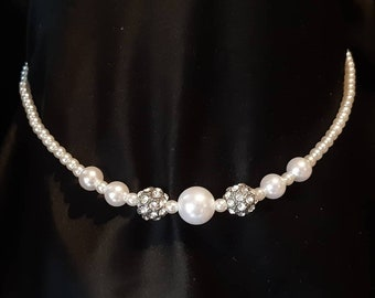 Pearly necklace / Bridal necklace / bridal bdsm collar