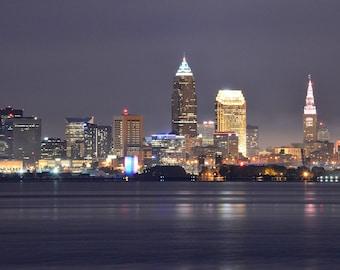 Cleveland Night Skyline | 8x10