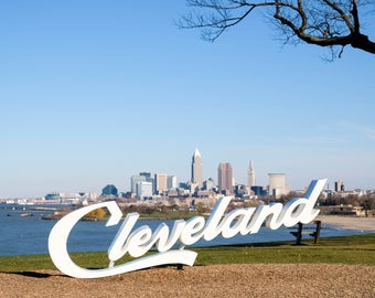 Cleveland Skyline with Sign | 8x10