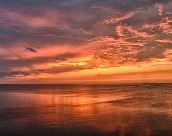 Orange Sunset at Lakewood Park | 8x10