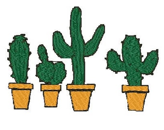 Cacti Embroidery Design PES Format/4x4, 5x7 Hoop /Cactus/Desert/Southwest/Summer/INSTANT DOWNLOAD / Machine Embroidery Design