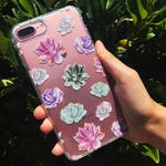 Succulent Premium 3D Soft Clear TPU Silicone Case Cover For Apple iPhone 7 and 7 Plus