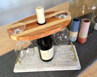 Personalized Reclaimed Wood Wine Caddy - Handmade / Wisconsin / Pallet / Salvaged / Wedding Gift / Bridesmaids / Groomsmen / Made to Order