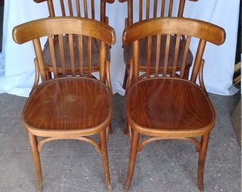 set of 4 art deco Bistro chairs
