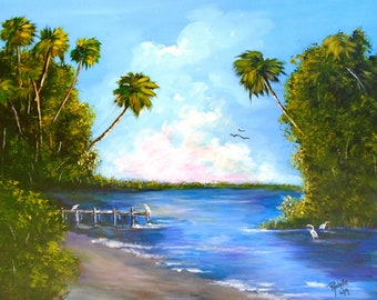 Items similar to Original Florida Highwaymen by Alfred Hair