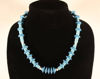 Blue Vintage Beaded Necklace