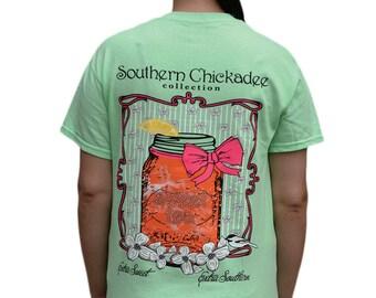 e7cf3da2f Southern Chickadee Sweet Tea Unisex Short Sleeve Tee - Mint