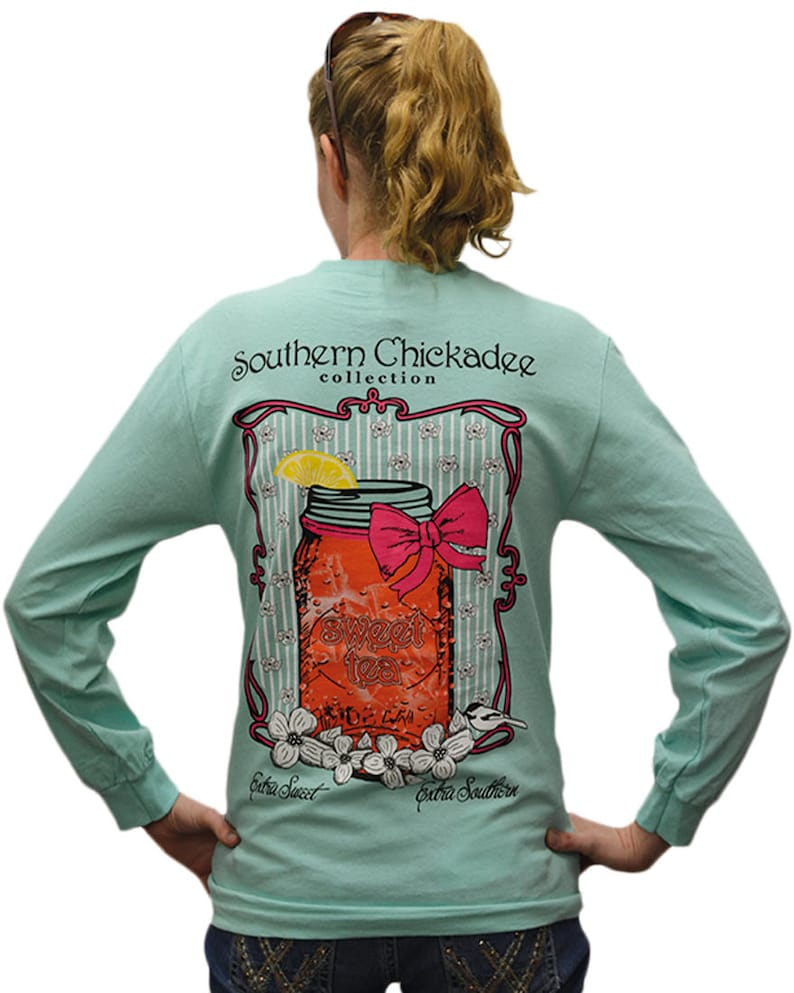 Southern Chickadee Sweet Tea Women/'s Short Sleeve Tee Orchid