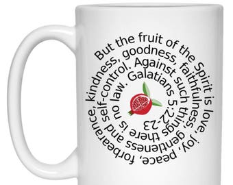 Fruit of the Spirit Galatians 5:22-23 Bible Verse Christian Mug