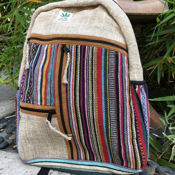 bded8c8731da Hemp Backpack 2 100% Pure Hemp Handmade in Nepal