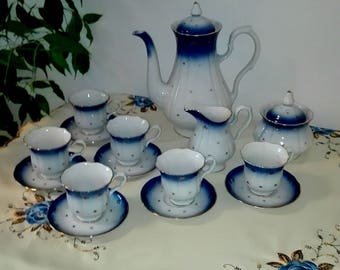 porcelain tea or coffee service for 6 people