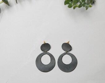 Johanna Loop Leather Earring