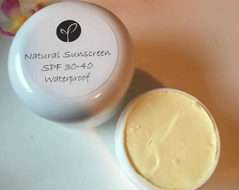 Natural Sunscreen Sunblock Face and Body Natural Organic Sunscreen Moisturizer Sunblock SPF 30-40 Waterproof Day Cream