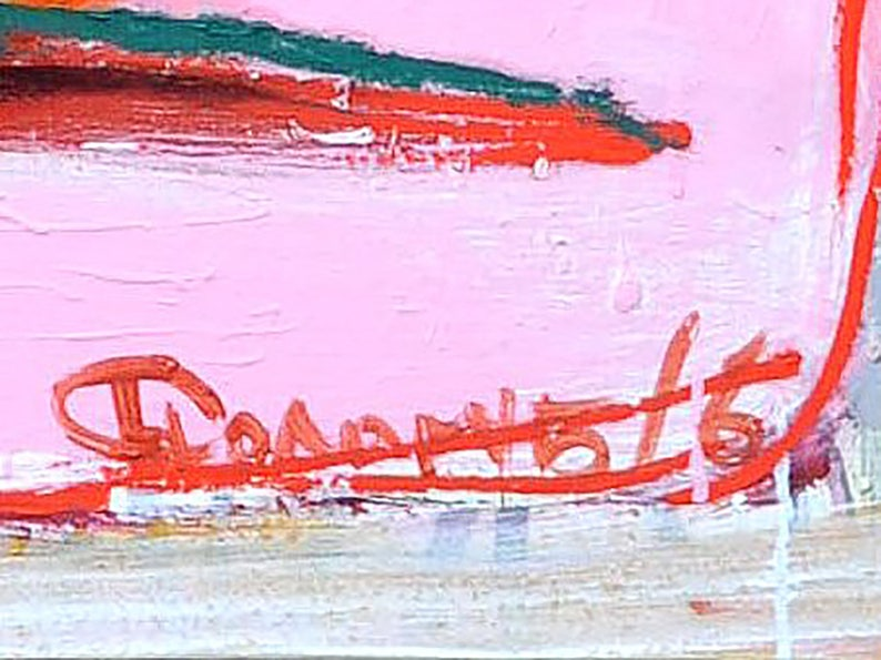 Wonder woman print on Canvas Blush pink wall art Naked
