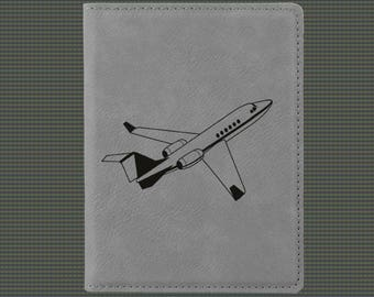 Engraved Passport Cover - Jet Designs