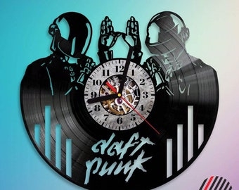 Vinyl Clock Daft Punk Music Gift Wall Decor Handmade Art