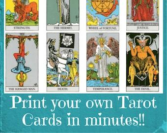 Spanish Tarot Deck Printable Tarot Card DeckMake Your Own | Etsy