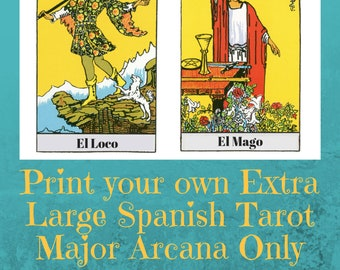 Spanish Tarot Deck Printable Tarot Card DeckMake Your Own | Etsy