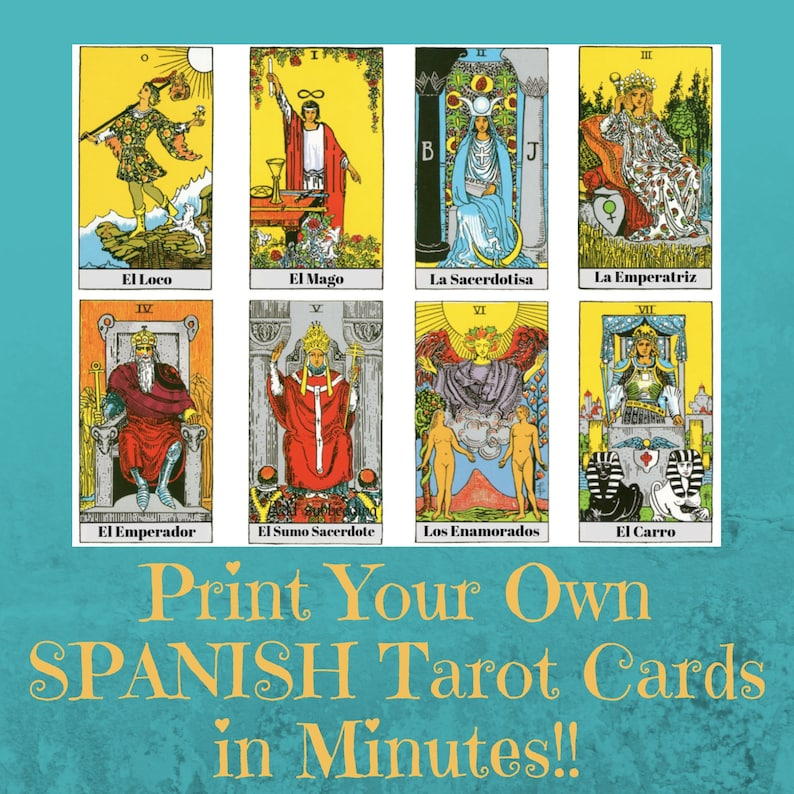 picture regarding Free Printable Tarot Card Deck named Spanish Tarot Deck, Printable Tarot Card Deck,Generate Your Personalized Rider Waite Smith Electronic Tarot Deck En Espanol, Uncomplicated Tarot Reward, Pagan Presents