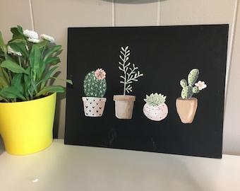 Succulent Canvas Painting