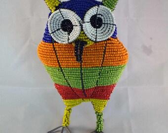 Wire Beaded Owl
