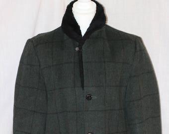 "Vintage TOWNCRAFT Penneys Gray Black 34"" Length Coat Jacket Size 38"