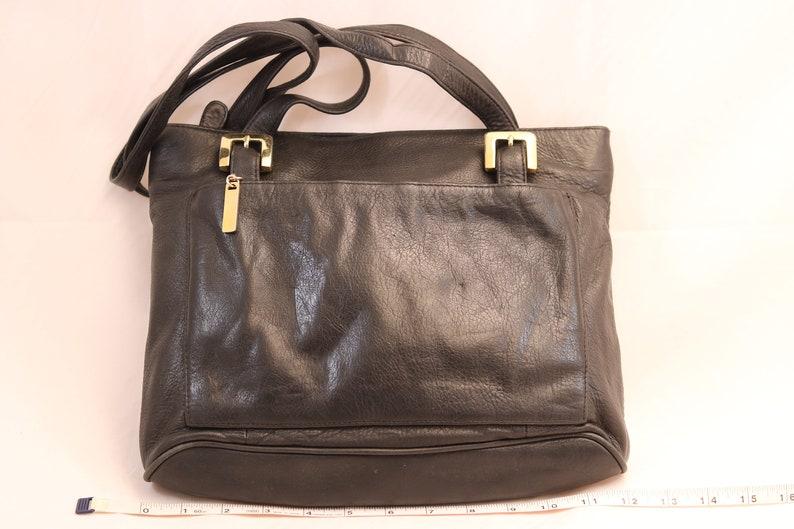 9069f9281c26 Vintage MILA PAOLI Black Leather Baguette Shoulder Purse