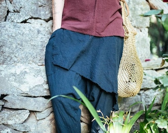 Cozy black pants alibaba...from khadi cotton..breathing natural fabric