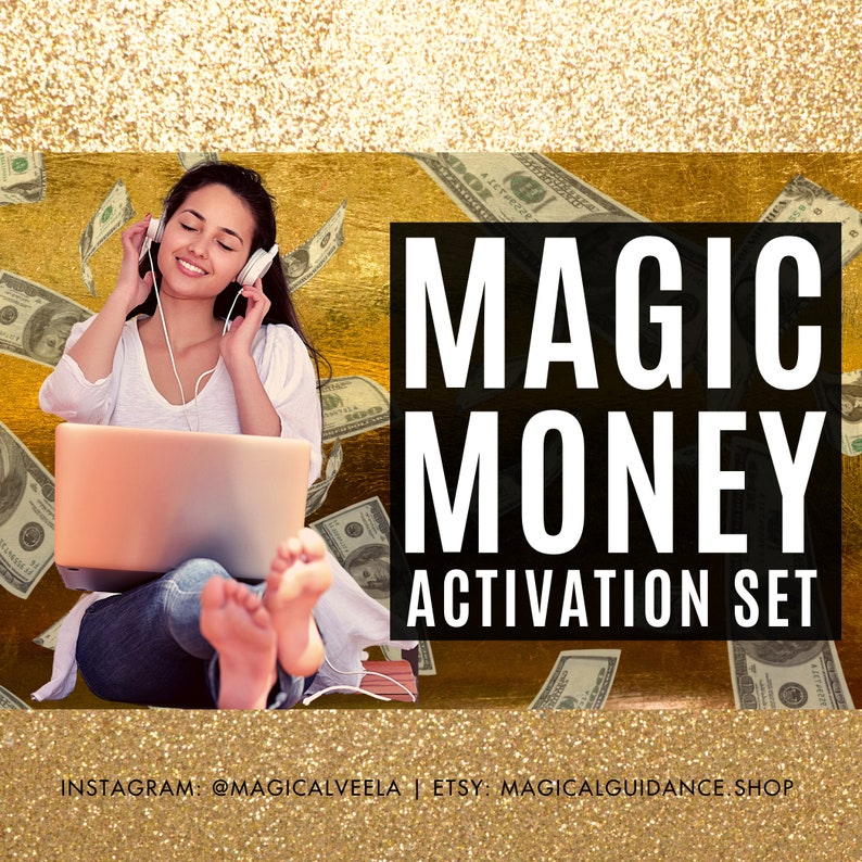 Money Magic Activation Set Money Magnet Meditation Law of image 0