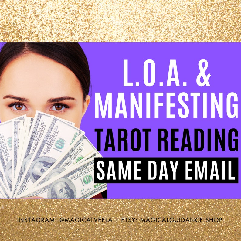 Manifestation Tarot Reading Fast SAME DAY  Law of Attraction image 0