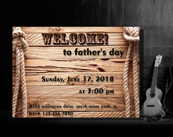 Father's Day invitation Printable father's day father day printable invitation father day invitation download  father day personalized invit